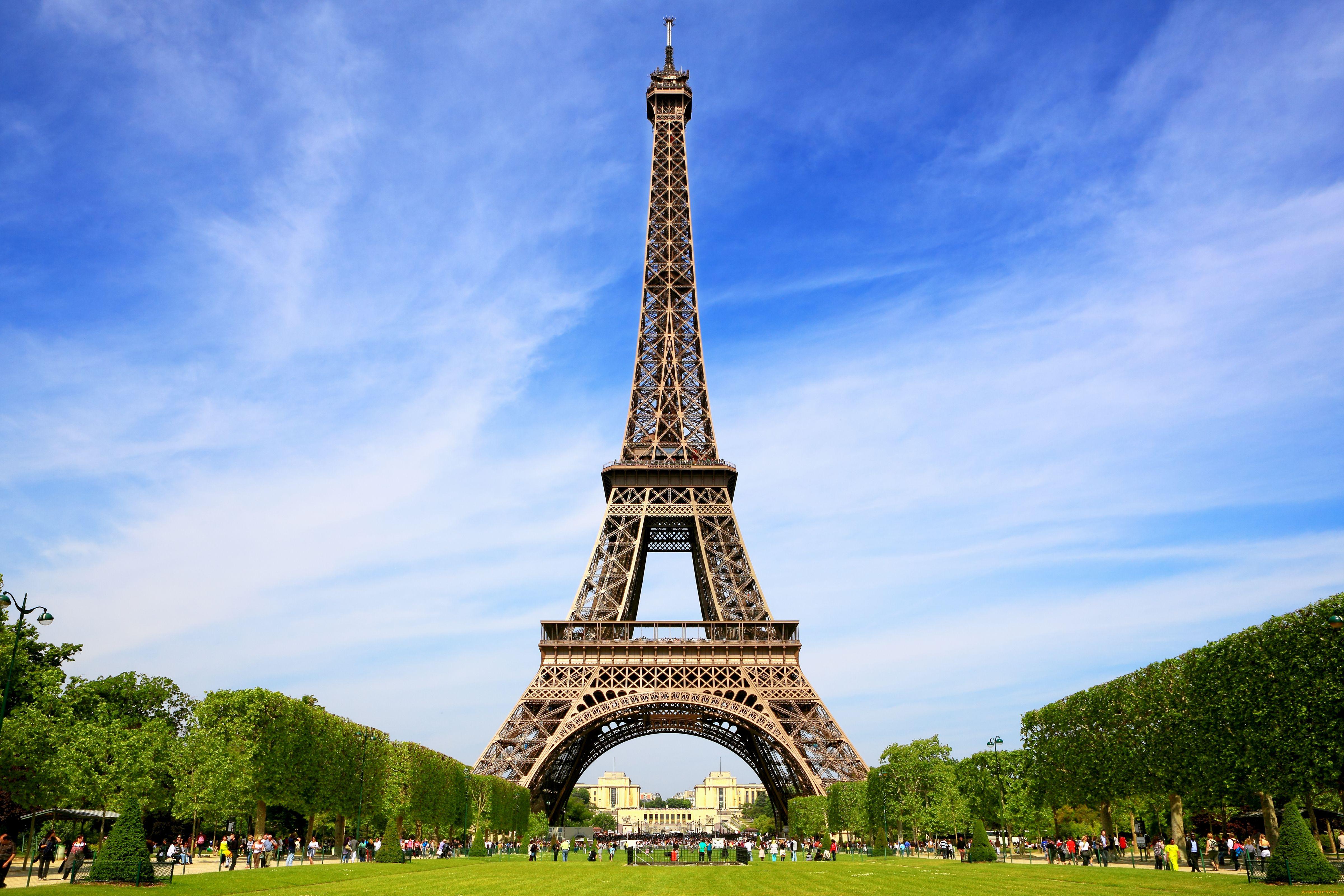 Города париж франция эйфелева башня